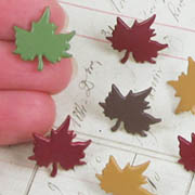 Oak Leaf Brads - Fall Colors