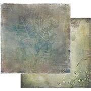 Tattered Garden Scrapbook Paper - Leaves