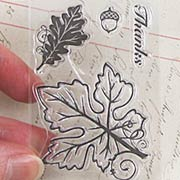 Small Leaves Clear Stamp Set