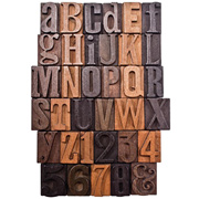 Tim Holtz Letterpress Wood Letters