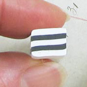 Polymer Clay Large Black & White Square Cane
