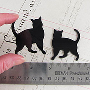 Acrylic Black Standing Cat Cut-Out