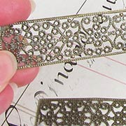 Rectangular Bronze Filigree - Large