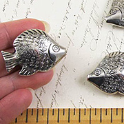 Metallic Silver Fish - Large