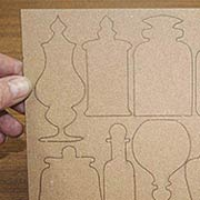 Large Chipboard Apothecary Jar Shapes