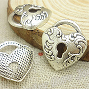 Large Silver Heart Lock*