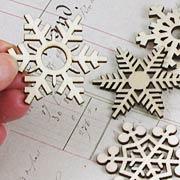 Set of Large Wooden Snowflakes