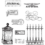 Classics 13 - London Air Mail Cling Stamp Set