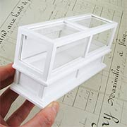 Long Store Display Case - White