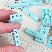 Clickable Typewriter Alphabet Stamps 3/16 Inch - Lowercase