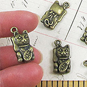 Bronze Lucky Cat Charms*