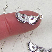 Small Silver Mask Charms with Dots