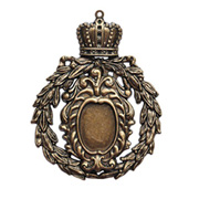 A Gilded Life - Crowned Medallion Pendant - Gold
