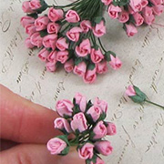 Mini Rose Buds - Medium Pink*