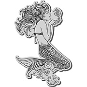 Mermaid with Seahorse Cling Stamp