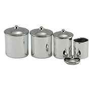 Metal Canisters with Lids - Set of 4