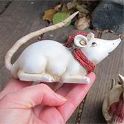 Small Christmas Mouse - Lying