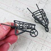 Micro Rustic Wheelbarrow