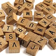 Mini Wood Alphabet Tiles*