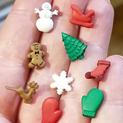 Christmas Miniatures Buttons Set