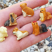 Assorted Mini Dogs - 3/4 Inch Tall