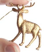 Miniature Gold Deer Ornaments