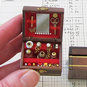 Mini Wooden Make-up or Jewelry Box