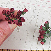 Mini Rose Buds - Burgundy*