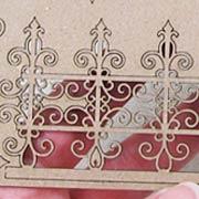 Mini Chipboard Wrought Iron Flourishes Set