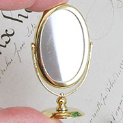 Gold Countertop Mirror - Oval