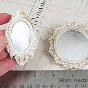 Set of 3 Shabby Round or Oval Mirrors