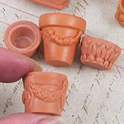 Set of Miscellaneous Flower Pots