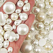 Mixed Flat Back Pearls