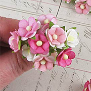 Small Mulberry Paper Blossoms - Mixed Pink