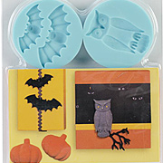 Gothic Manor Silicone Molds - Owl Bat Branch Pumpkin
