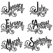 Time to Flourish Cling Stamp Set 3 - Months