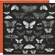 Spellcast Moths Halloween Scrapbook Paper