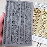 Vintage Art Decor Silicone Mold - Border Moulding