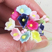 Small Felt Flowers - Multicolor