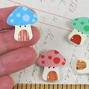 Mushroom Fairy House Buttons*