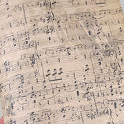 Distressed Old Sheet Music Scrapbook Paper