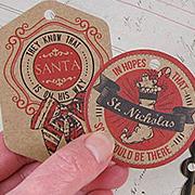 Naughty or Nice Kraft Christmas Gift Tags*