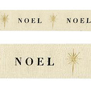 Printed Canvas Ribbon - Noel**