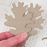 Oak Leaf Die-Cut Chipboard