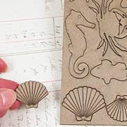 Ocean Finds Chipboard Embellishments