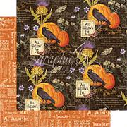 Time To Flourish - October Flourish Scrapbook Paper
