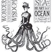 Voyage Beneath the Sea Cling Stamp Set - Octopus Skirt