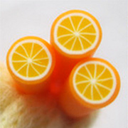 Polymer Clay Orange Cane