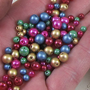 Mini Xmas Tree Ornaments Bead Mix
