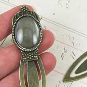 Bronze Bookmark with Oval Setting**